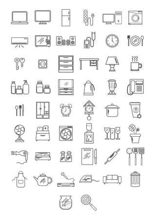 Haushaltsgeräte-Kollektion Vektorgrafik