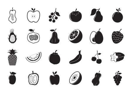 pine apple: set of fruits Illustration