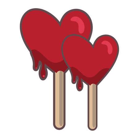 heart shaped: heart shaped lollipop