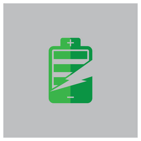 positive energy: battery Illustration