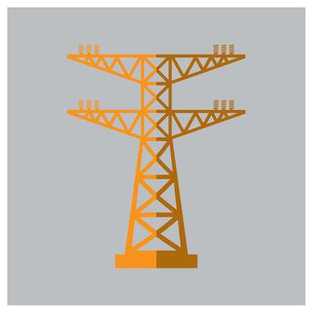 high voltage current: power tower Illustration