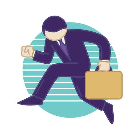 businessman holding briefcase 向量圖像