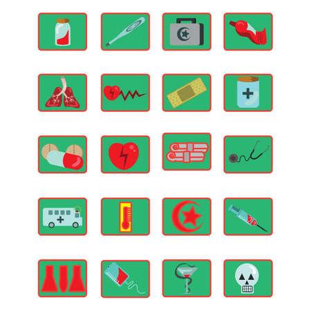 set van medische pictogrammen