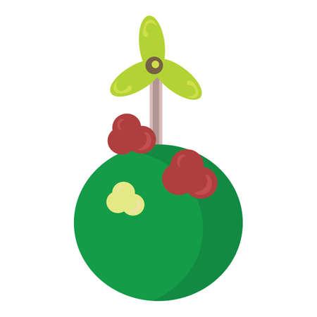 wind turbine: wind turbine Illustration