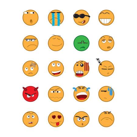 joke glasses: set of emoticons
