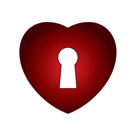 key hole shape: heart with key hole