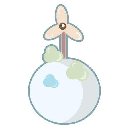 generators: wind turbine Illustration