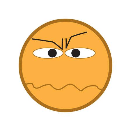 annoying: annoyed emoticon Illustration