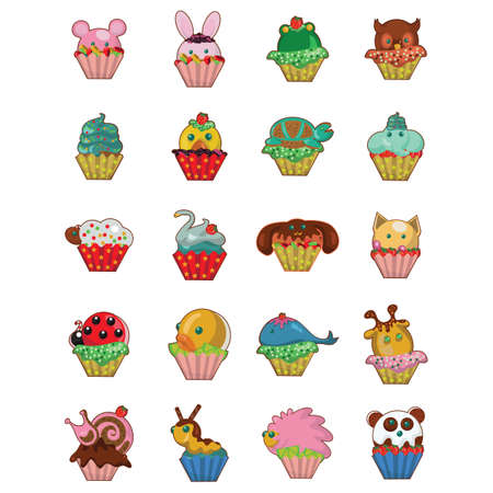 strawberry frog: set of cupcakes