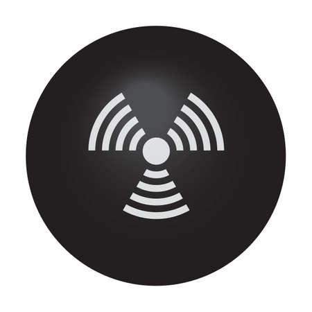 radiation warning symbol Reklamní fotografie - 81469292