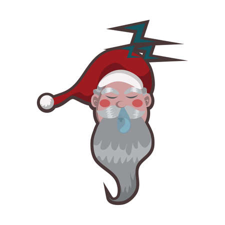 snoring: santa claus sleeping Illustration