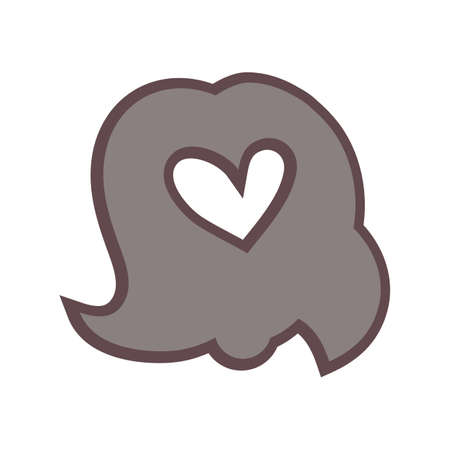 shaped: heart shaped lady hair Illustration
