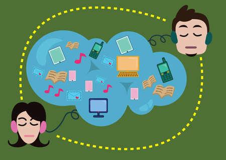 communication concept: cloud communication concept