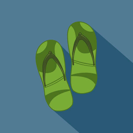flops: flip flops Illustration