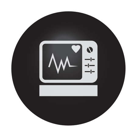 ecg: ecg monitor Illustration