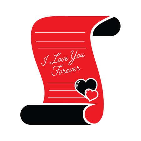 forever: i love you forever note Illustration