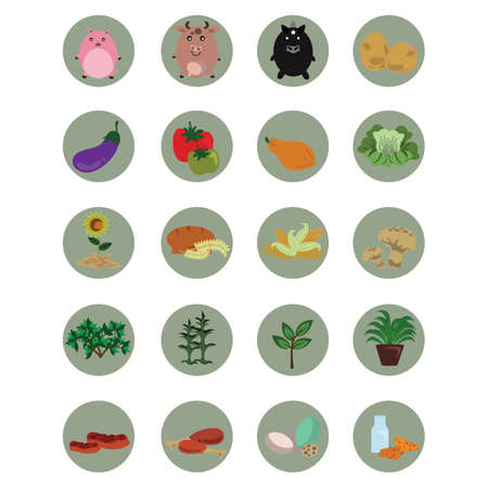 agriculture icon: set of agriculture icons