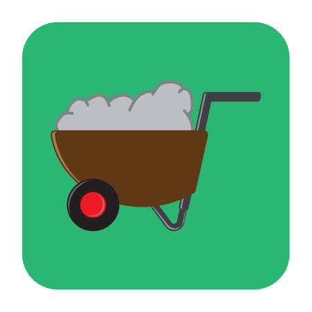 wheel barrow: soil in wheel barrow