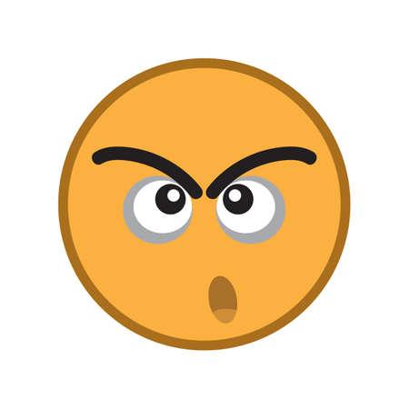 cranky: cranky emoticon Illustration
