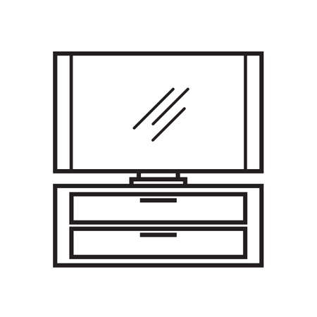 lcd: lcd television on cabinet