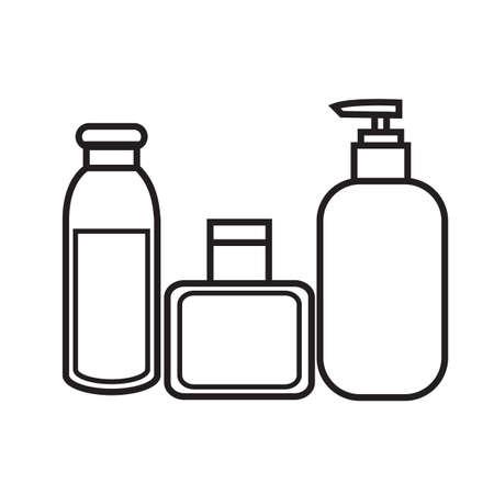 articulos de baño: artículos de tocador  Vectores