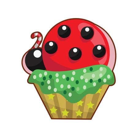 ladybug: ladybug cupcake