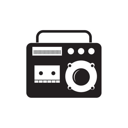 home entertainment: tape recorder Illustration