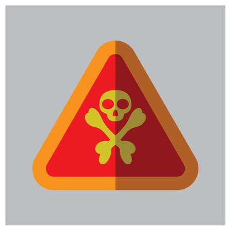 intimate: danger sign board Illustration