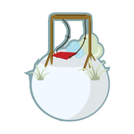 garden swing Ilustracja