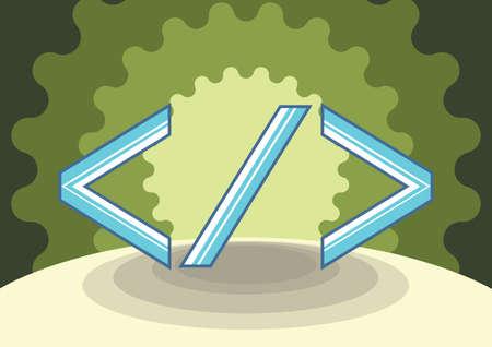html: html tag coding Stock Photo