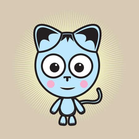 blushing: cat blushing