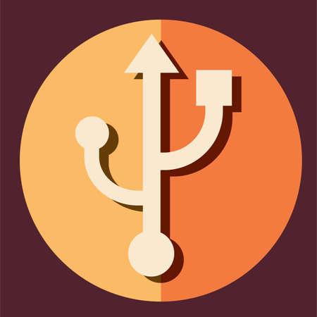 usb port: usb port symbol Stock Photo