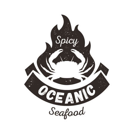 spicy: spicy seafood label design