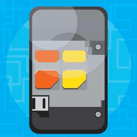 dismantled: dismantled smartphone