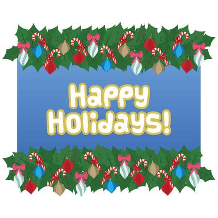 happy holidays: happy holidays garland