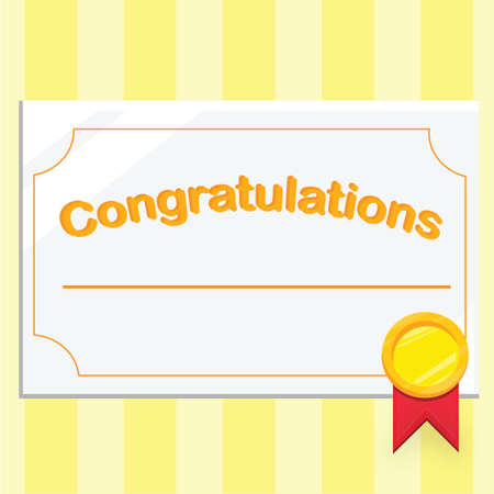 Congratulations Certificate Stock Photo, Picture And Royalty Free ...