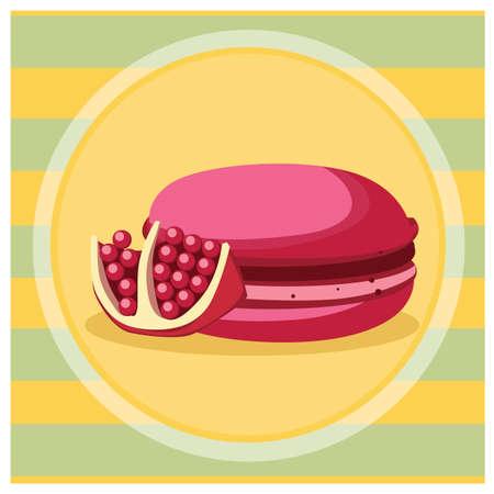 macaron: pomegranate macaron Stock Photo