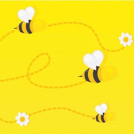 bee stinger: swarming bees Stock Photo