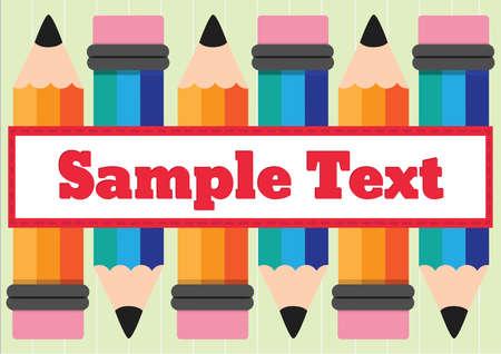 sample: sample text Stock Photo