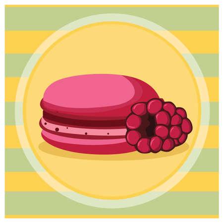 macaron: raspberry macaron