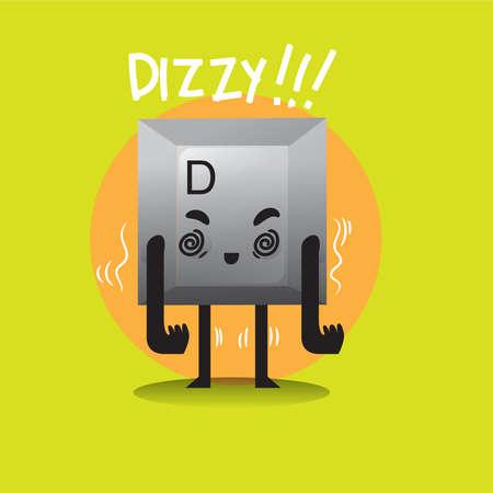 dizzy: dizzy keyboard button