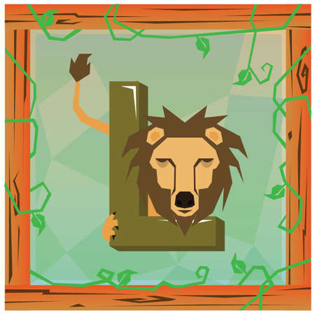 playschool: l for lion Stock Photo
