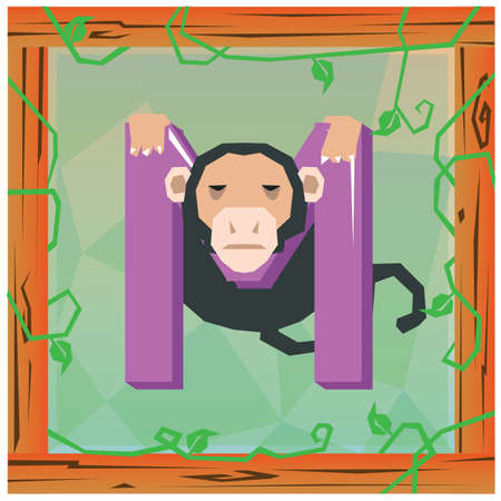 playschool: m for monkey Stock Photo