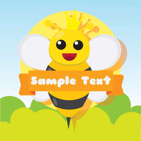 textspace: bee with copyspace design