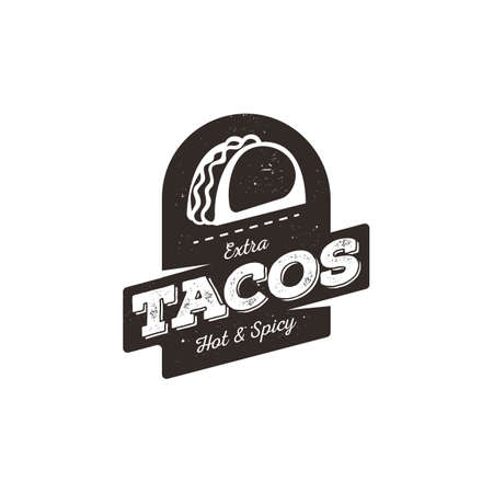 tacos: extra hot and spicy tacos label design