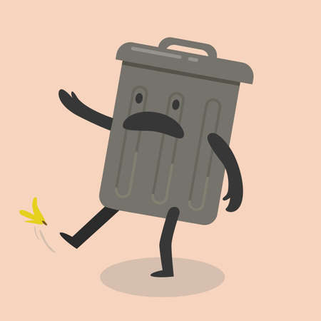 slipped: slipped dust bin