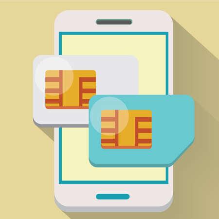 dual: smartphone with dual sim card Stock Photo