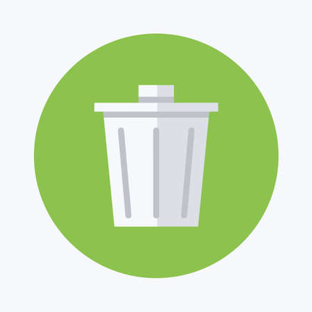 waster: dust bin icon Stock Photo