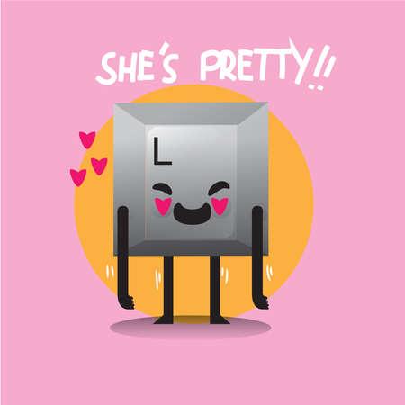 she: she is pretty keyboard button