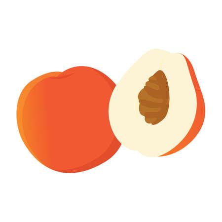 heathy: peach fruit Stock Photo